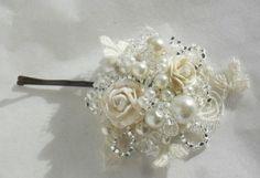 Homemade wedding hair clip