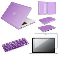 "INSTEN 3 in 1 PURPLE Hard Case for Macbook PRO 13"" + Keyboard Cover + LED Screen Guard: iPad & eReaders : Walmart.com"