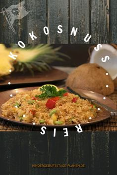 Kokosnuss Reis Piraten Geburtstag Rezept Essen Snacks, Chana Masala, Good Food, Ethnic Recipes, Coconut, Kid Birthdays, Birthday Celebrations, Appetizers, Healthy Food