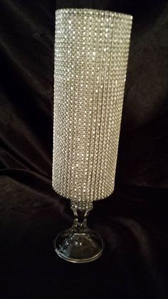 Large Bling Mirror and Bling Vase / Wedding Decor / Center Piece ...