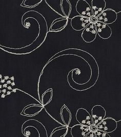 Home Decor Solid Fabric-Waverly Candlewicking Classic/Black