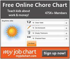 Free Online Kids Chore Chart!