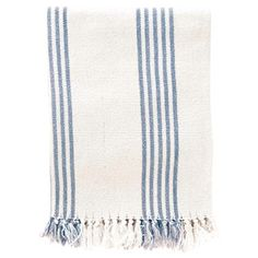 Found it at Wayfair - Pine Cone Hill Ibiza Cotton Throw Blanket - Color: French Blue
