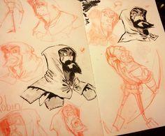 Character design  #characterdesign #colerase #robinhood #pentel #pentelbrushpen #moleskine #draw #drawdaily #art