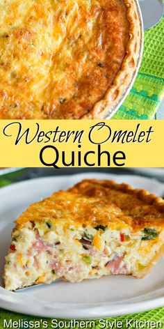 This Western Omelet Quiche can be served for breakfast, brunch, lunch or dinner #westernomeletquiche #westernomelet #quicherecipes #bestquicherecipes #omelets #eggs #holidaybrunch #holidays #dinner #dinnerideas #leftoverhamrecipes #southernfood #southernrecipes Breakfast For Dinner, Breakfast Dishes, Breakfast Ideas, Breakfast Quiche, Brunch Egg Dishes, Breakfast Egg Bake, Brunch Foods, Brunch Buffet, Savory Breakfast