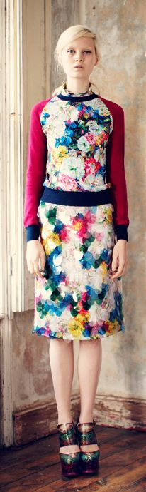 (color, prints, styling, hair)    Erdem | Pre Fall 2013