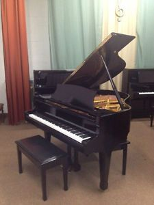 """Stunning semi-gloss ebony grand piano """"Sojin"""" ready to be enjoyed at Classic Piano Centre Inc CALL TODAY to book you personal piano-testing appointment: 416.667.0000"""