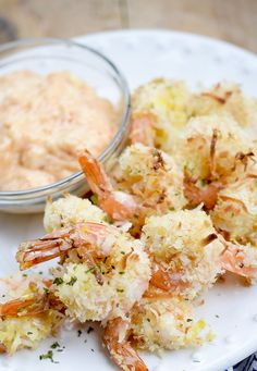 1/4 pound of shrimp clocks in at 8Points+ Baked Coconut Shrimp – Recipe Diaries