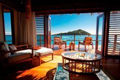 Likuliku Lagoon Resort, Fiji View from an over-water bure bed