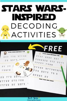 Give your Star Wars fans fun challenges with these decoding activities. Get step-by-step instructions on how to easily assemble the decoder & get started with Star Wars fun today! Rainy Day Activities, Indoor Activities For Kids, Therapy Activities, Writing Activities, Classroom Activities, Outdoor Activities, Holiday Activities, Stem Activities, Family Activities