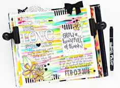 mixed media art journaling in an Illustrated Faith song journal about friendship and talking to God and his love - by Stephanie Buice