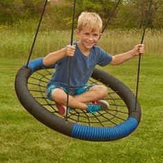 Swing-N-Slide Monster Web Swing - Ideal for cultivating inclusive and interactive play the Swing-N-Slide Monster Web Swing has a weight capacity of 250 lbs. and can hold up to three children at once.
