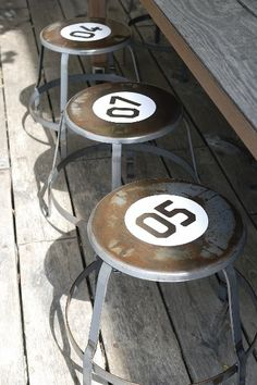 numbered stools...