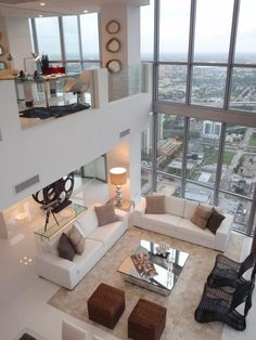 Urban Modern Chic Living Room in a loft style home. V