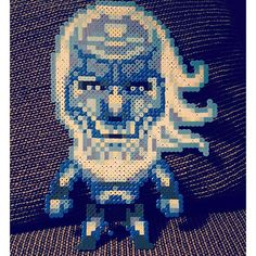 Winter is coming, so have a whitewalker. Just didn't have the right shades of blue for this, but still turned out all right. (Copied the perler by floxido on deviantart) #perler #perlerbeads #hama #hamabeads #handmade #crafts #whitewalker #gameofthrones by ohsopathos