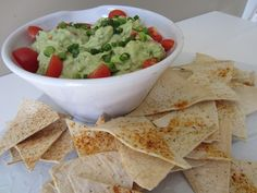 Creamy Guacamole with Homemade Tortilla Chips {Guest Post} - East Coast Creative Blog