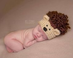 baby hedgehog hat // fall hat // newborn photo prop by bitOwhimsy