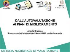 DALL'AUTOVALUTAZIONE AI PIANI DI MIGLIORAMENTO Angela Orabona Responsabile Polo Qualità di Napoli-USR per la Campania.