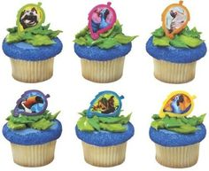 Rio Blu and Gang Cupcake Rings - 12 count
