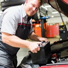 Who looks this happy putting a battery in your car?  We do!! #battery #service #carservice #malonetoyota