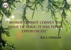 """""""words cannot convey the value of yoga-it has to be experienced."""""""