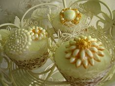 Brooch Cupcakes by pollyd (Paula), via Flickr
