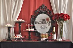 Engagement   The Bachelor the Final Rose theme   Creative Juice: the bachelor party