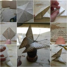 How to DIY Easy Origami Butterfly | iCreativeIdeas.com Like Us on Facebook ==> https://www.facebook.com/icreativeideas