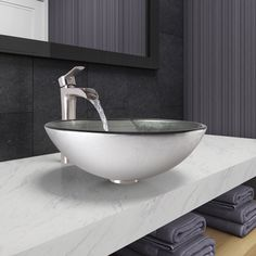 Vigo Simply Vessel Bathroom Sink and Niko Faucet Set in Brushed Nickel Finish