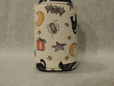 Halloween Can or Water Bottle Cozy Koozie by favorite4paws on Etsy, $2.00
