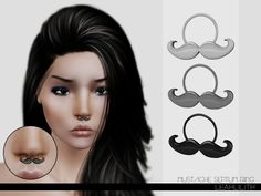 LeahLillith Mustache Septum Ring by LeahLilith - Free Sims 3 Accessories Downloads The Sims Resource Custom Content Caboodle - Best Sims3 Updates and Finds