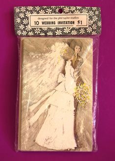 Wedding Invitations Cards - Vintage Mid Century 1960s Bride & Groom Invites - New Old Stock by FunkyKoala on Etsy
