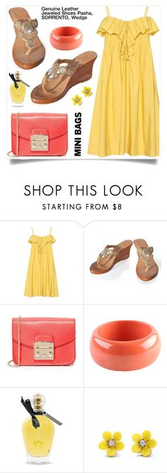 """""""Pasha Jewelry Sandals"""" by gorgeousjewelryshoes ❤ liked on Polyvore featuring Three Graces, Furla, Dsquared2, EB Florals, WithChic, summerstyle, minibags, pasha, jewelrysandals and pashasandals"""