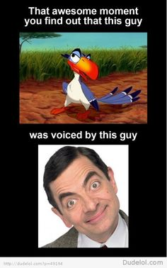 Mr. Bean Played a Character on the Lion King?!?!