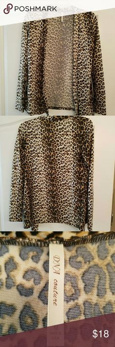 Leopard print cardigan Soft Leopard print cardigan.  In excellent condition. DNA Couture Sweaters Cardigans
