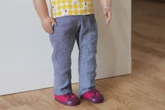 free 18 inch doll pants pattern