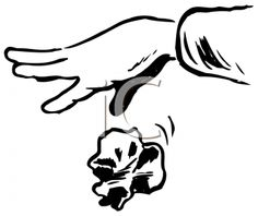 iCLIPART - Royalty Free Clipart Image of a Hand Dropping Trash