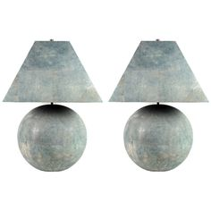 Karl Springer Shagreen-Veneered Table Lamps   From a unique collection of antique and modern table lamps at https://www.1stdibs.com/furniture/lighting/table-lamps/