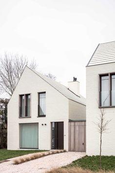 Park de Borchgrave by CAS Architects Social Housing, Construction, House 2, White Paints, Brick, Sweet Home, Exterior, House Design, Outdoor Decor