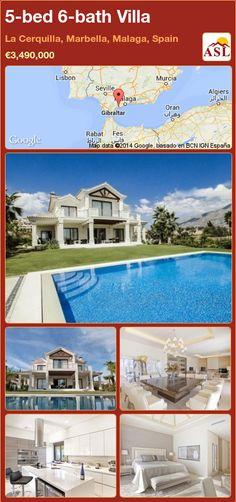 Villa for Sale in La Cerquilla, Marbella, Malaga, Spain with 5 bedrooms, 6 bathrooms - A Spanish Life Murcia, Marbella Malaga, Window Glazing, Malaga Spain, Basement House, Cinema Room, Andalucia, Best Location, Luxury Villa
