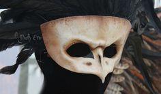 Passer Mors Sparrow Skull  Handmade Leather Mask by MaskEra
