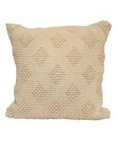 Look at this #zulilyfind! Cream Popcorn Diamond Throw Pillow #zulilyfinds