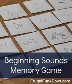Phonics memory game made out of index cards - what a fun way to practice letter sounds!