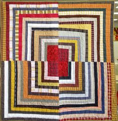 Housetop, 55 1/2 x 55 1/2, by Deb Rowden Quilt Inspiration: Waste not, want not: Quilts from reclaimed clothing