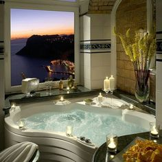 Dream bathroom. I want this and that view!!!!