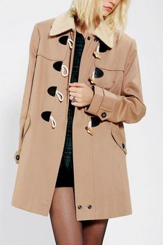 Pins And Needles Toggle Coat #urbanoutfitters
