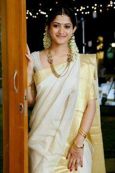 Kerala saree...timeless beauty