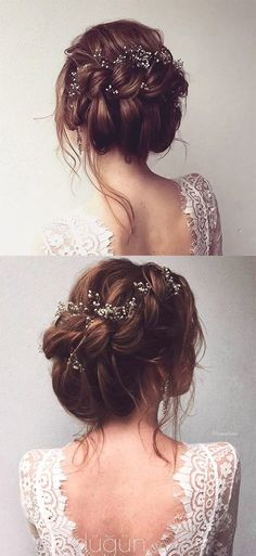 gorgeous bridal updo hairstyle for all brides (Prom Hair Fishtail)