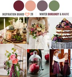 Mauve and burgundy wedding