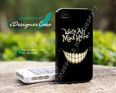 iPhone 4 case, iPhone 4S case, Alice In Wonderland, We're All Mad, Disney iPhone case, case for iPhone, A01A5192 on Etsy, $11.53 AUD